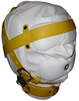 Bondage Maske mit Akustik-Schutz