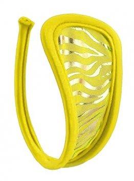 Gelber Tiger Damen C-String in Einheitsgröße