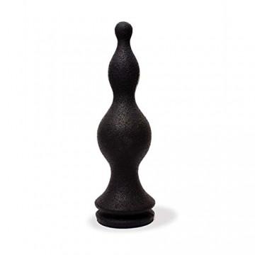 Black Bowler Analdildo aus Silikon, 28 cm