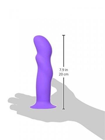Gewellter Dildo aus Silikon, anal & vaginal