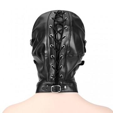 Die Maske um die Augen des Kürbisses
