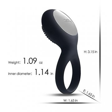 Vibrierender Cockring mit Klitorisstimulator (black)